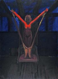 ohne titel (akt auf stuhl) by norbert tadeusz