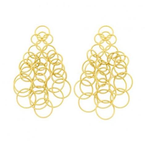 Pair Of Gold Hawaii Pendant Earrings Buccellati By