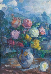 mixed roses by josephine haswell miller