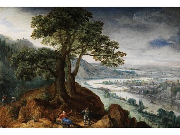 ansicht der stadt linz an der donau by lucas van valkenborch