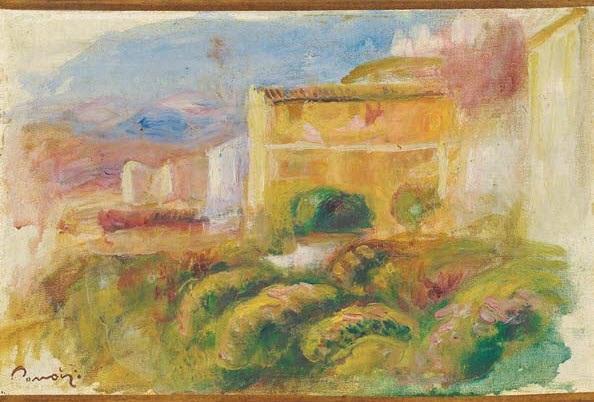 la maison de la poste à cagnes by pierre auguste renoir