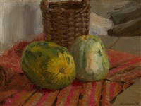 still life with watermelons by yeranui aslamazyan
