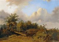 landschaft mit wanderer by franciscus antonius de haan