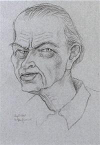portrait otto dix by arthur kaufmann