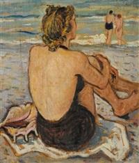 donna sulla spiaggia by luigi bassano