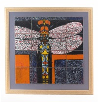 magnified dragonfly (16 parts) by tony morris