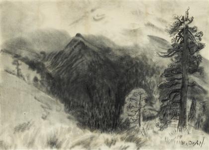 el pino y la montana popocatepetl by dr atl gerardo murillo