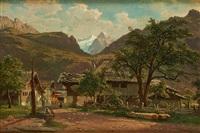 une vue à meyringen (oberland bernois) by jean francois xavier roffiaen