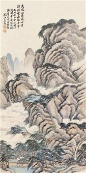 云松图 立轴 设色纸本 by jiang jun