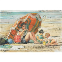 a day at the beach by cesare bacchi