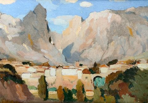 moustiers ste marie by adolphe valette