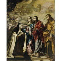 the vision of saint catherine of siena by juan de valdés leal
