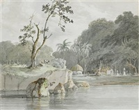 on the ganges near culna by charles hamilton smith