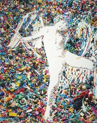 cupid, after caravaggio (from the rebus series) by vik muniz