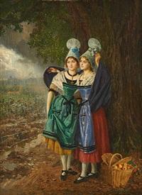 élégantes au panier de fruits by basile lemeunier