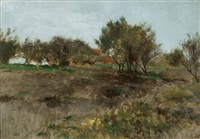 field and trees by thomas herbst