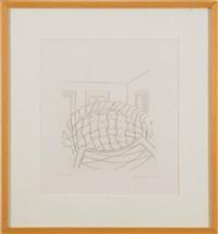 table, window, mirror, door, basket by richard artschwager