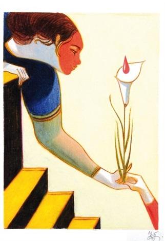 femme à la fleur by lorenzo mattotti