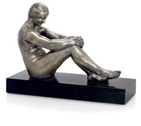 seated nude by raymond leon rivoire