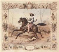 la noblesse (+ la bourgeoisie; 2 works) by victor-jean adam