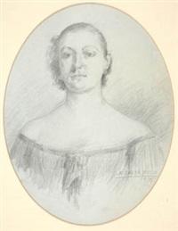 retrato femenino by marceliano santa maría