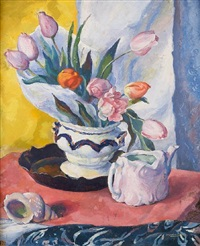 tulips and shells by josephine haswell miller