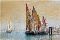 segelschiffe in der lagune von venedig by william stanley haseltine