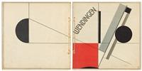wendingen, band 4, heft no. 11. sonderheft frank lloyd wright. mit farbiger umschlagzeichnung von el lissitzky (bk w/1 work) by el lissitzky
