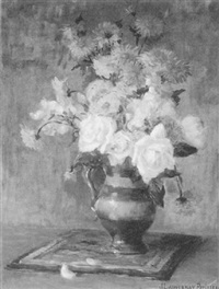 still life with flowers by jeanne lauvernay-petitjean
