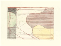 construct (drypoint) (from eight color etchings) by richard diebenkorn