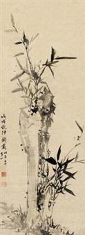 竹石图 (bamboo) by qian zai