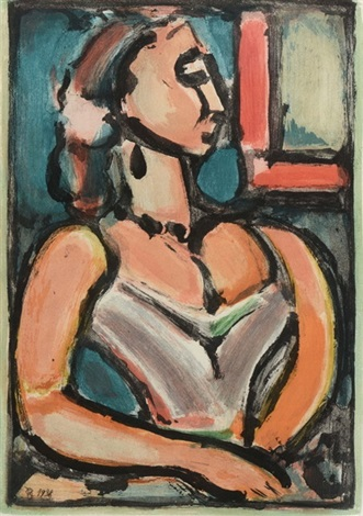 femme fiere from les fleurs du mal by georges rouault