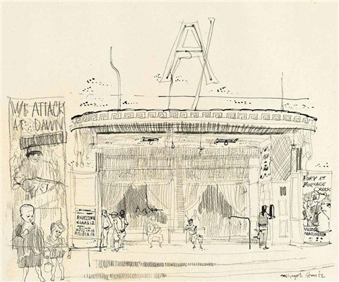 athens cinema by paul hogarth