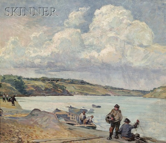 fishermen, quebec, canada by walter griffin