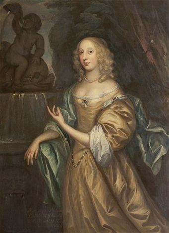 portrait of the hon mary stourton later lady weld by sir peter lely