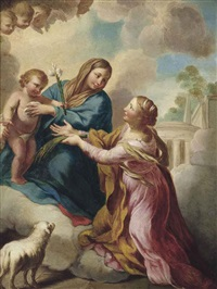 the madonna and child appearing to saint agnes by pietro da cortona