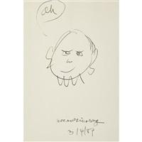 self-portrait on a single sheet by allen ginsberg