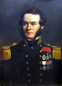 arctic explorer sherard osborn in naval uniform by john lewis reilly