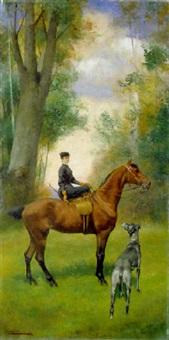 gentildonna a cavallo by arturo marion colavini
