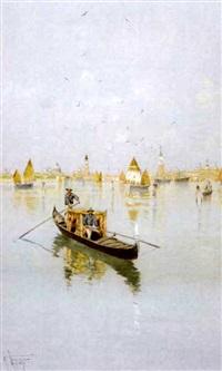venetian scene by giuseppe vizzotto alberti