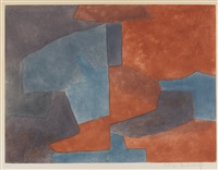 composition grise, bleue et rouge by serge poliakoff
