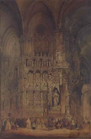 el transparente toledo cathedral by genaro perez villaamil