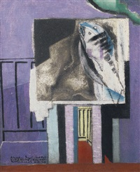 nature morte devant le balcon by louis marcoussis