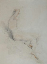 nude studies (2 works) by stephen catterson smith