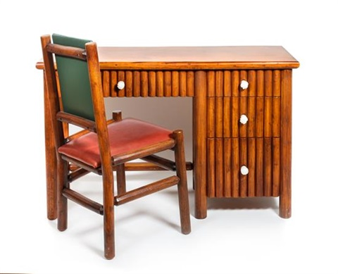 Merveilleux A Molesworth Style Wood Desk With Leather Chair By New West ...