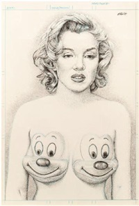 marilyn with mickey tits by ron english