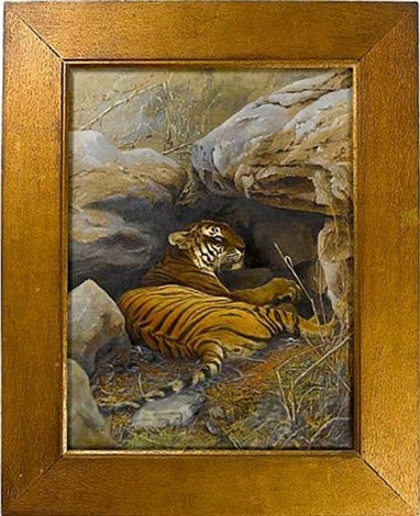 tiger print 2 works by william willoughby hooper