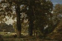 bergère et son troupeau by théodore fourmois