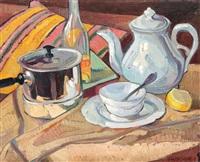 natură statică cu ceainic și lămâie by lucretia mihail-silion