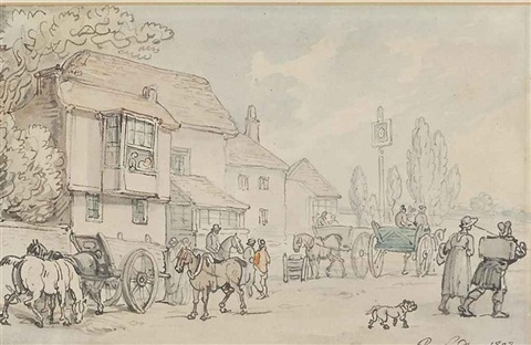 a country inn by thomas rowlandson